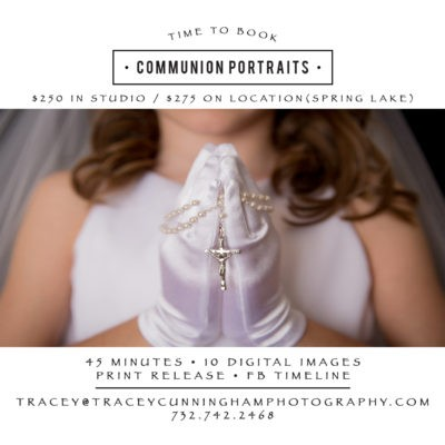 Communion Studio Sessions or On Location in Spring Lake, New Jersey
