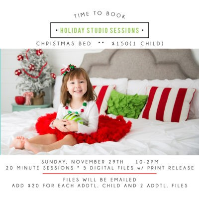 Holiday Studio Mini Sessions/ New Jersey